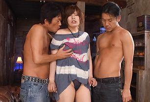 Ririsu Ayaka creampied by two in asian milf porn
