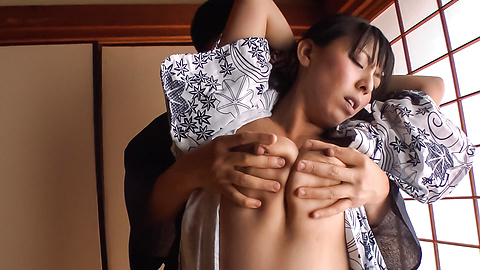 Ryoko Murakami - Gorgeous Asian milf fucked with Asian dildos  - Picture 1