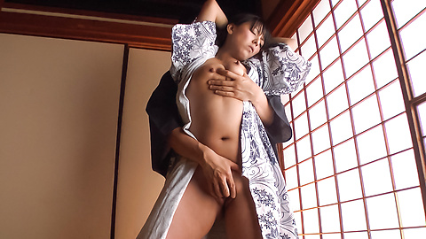 Ryoko Murakami - Gorgeous Asian milf fucked with Asian dildos  - Picture 4