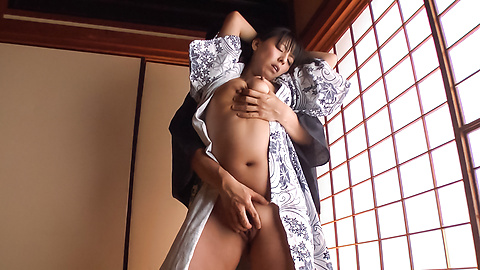 Ryoko Murakami - Gorgeous Asian milf fucked with Asian dildos  - Picture 5