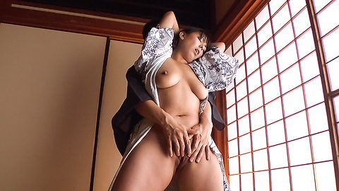 Ryoko Murakami - Gorgeous Asian milf fucked with Asian dildos  - Picture 8