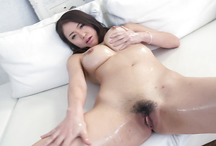 Big tits Kaede Niiyama super intense cock sucking on two dicks