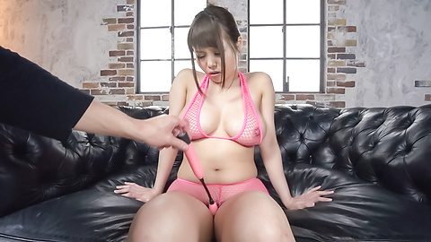 Rion Nishikawa - Cum on tits for busty Japanese babe Rion Nishikawa - Picture 1