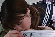 Asian schoolgirl sucks cock in extra hot manners  Photo 3