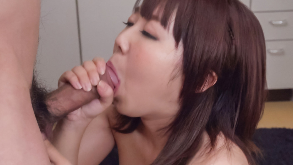 Strong Asian blowjob scenes by Yui Sakura