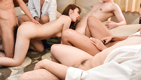 Natural gangbang along steamy  Eri Hosaka