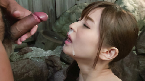 Saya Niiyama - Asian blowjob leads Saya Niiyama to swallow  - Picture 8