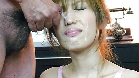 Japanese dude face jizz
