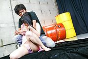Chiharu has many cocks to give a blowjob to Photo 2