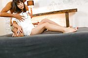Hot japanese av model Momoka Rin takes a creampie Photo 2