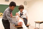 Teen Akina Hara's Hairy Pussy Fucked With Toys Photo 6