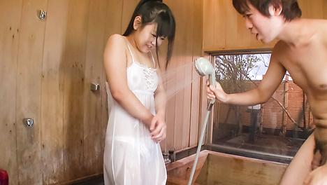 Hot teen Koyuki Ono gets cum in her mouth
