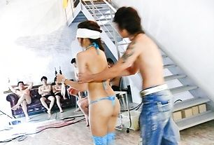 Japanese lingerie model goes wild on tasty cocks