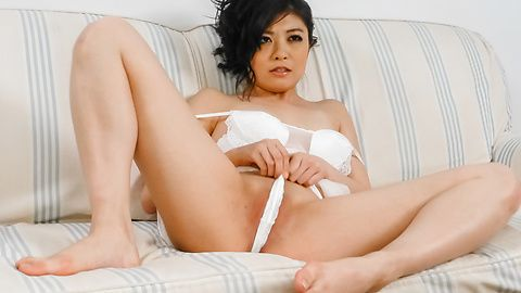 Rei Asamiya - Sweet solo with an Asian dildo from Rei Asamiya - Picture 1