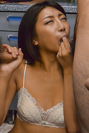Yuna Shiratori - Hot Asian blowjob by skinny Yuna Shiratori  - Picture 5