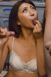 Yuna Shiratori - Hot Asian blowjob by skinny Yuna Shiratori  - Picture 6