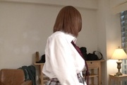 Hot schoolgirl plays with cock in nasty ways  Photo 1