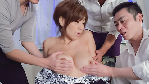 Chihiro Akino - Sexy wife swallows after top Asian blowjob  - Picture 11