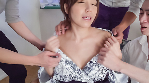 Chihiro Akino - Sexy wife swallows after top Asian blowjob  - Picture 4