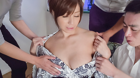 Chihiro Akino - Sexy wife swallows after top Asian blowjob  - Picture 5