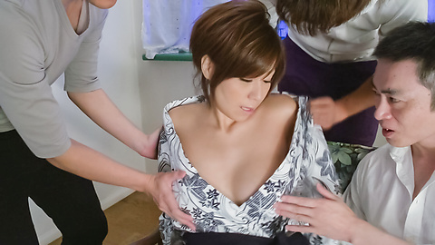 Chihiro Akino - Sexy wife swallows after top Asian blowjob  - Picture 6