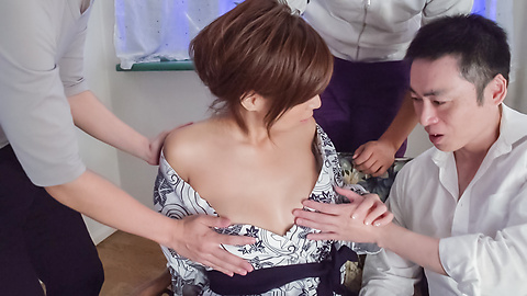 Chihiro Akino - Sexy wife swallows after top Asian blowjob  - Picture 7