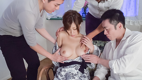 Chihiro Akino - Sexy wife swallows after top Asian blowjob  - Picture 9