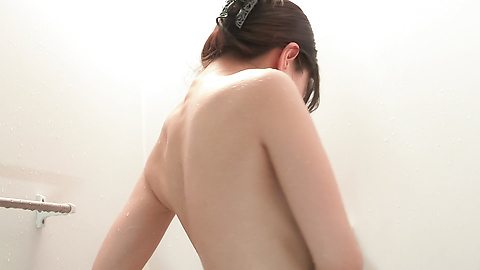 Nana Nakamura - Amateur Asian beauty sensual solo play in the shower  - Picture 3