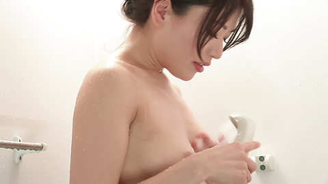 Nana Nakamura - Amateur Asian beauty sensual solo play in the shower  - Picture 7
