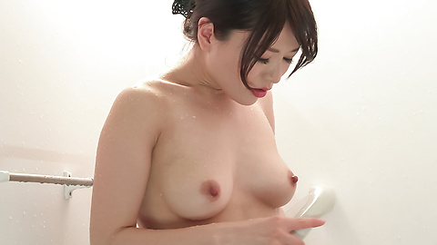 Nana Nakamura - Amateur Asian beauty sensual solo play in the shower  - Picture 8