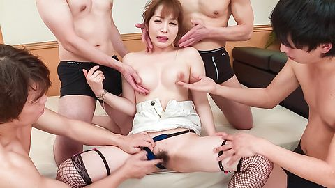 Cocolo - Japanese milf ends group porn with Asian cum face scenes - Picture 11