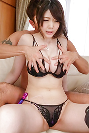 Rie Tachikawa - Busty Rie Tachikawa fucked with an asian big dildo - Picture 9