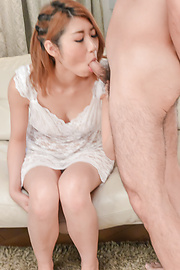 Kanako Kimura - Kanako Kimura opens up her mouth for an asian blowjob threesome - Picture 10