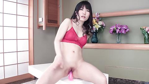 Tomoka Nanase - Brunette Tomoka Nanase amazing Asian blowjob on cam  - Picture 6