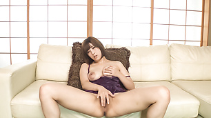 Honoka Orihara uses Japanese vibrator on her pussy