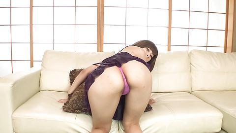 Honoka Orihara - Honoka Orihara uses Japanese vibrator on her pussy  - Picture 11