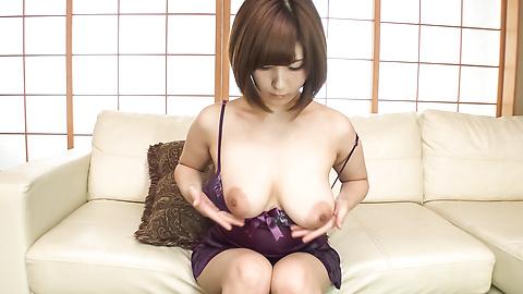 Honoka Orihara - Honoka Orihara uses Japanese vibrator on her pussy  - Picture 6