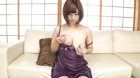 Honoka Orihara - Honoka Orihara uses Japanese vibrator on her pussy  - Picture 9