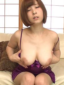 Honoka Orihara - Honoka Orihara uses Japanese vibrator on her pussy  - Screenshot 7