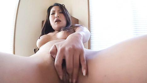 Saya fingers and rubs her horny cherry in solo scenes