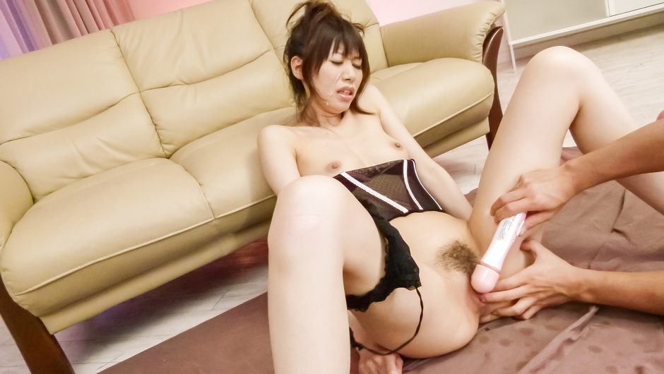 Asian milf gets ravished by toys and creamed on face with jizz