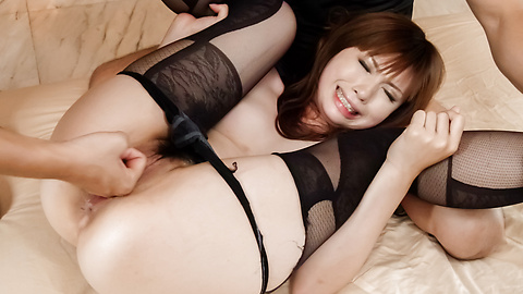 Mami Yuuki - Mami Yuuki in hardcore Asian blowjob threesome show - Picture 11