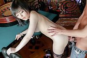 Asian blowjob with ebautiful Hikaru Kirameki  Photo 12