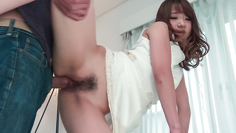 Nana Fujii - Nana Fujii bends ass for a full Asian creampie  - Picture 5