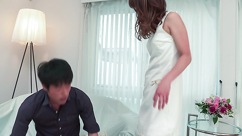 Nana Fujii - Nana Fujii bends ass for a full Asian creampie  - Picture 7