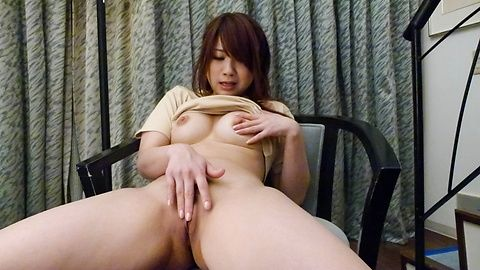 Busty Mayuka Akimoto enjoying hot japanese POV action