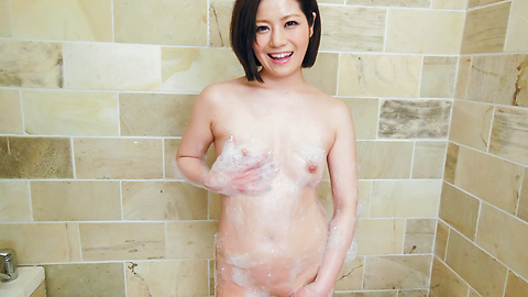 Minami Asano - Minami Asano plays with her pussy in the shower  - Picture 3
