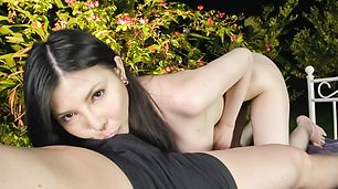 Asian milf in heats amazes with pure cock sucking