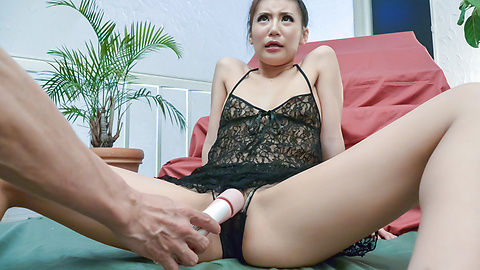 Rino Akane - Hottie enjoys Asian vibrator on her wet pussy  - Picture 5