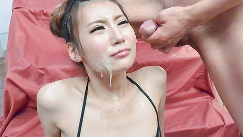 Hottie enjoys Asian vibrator on her wet pussy